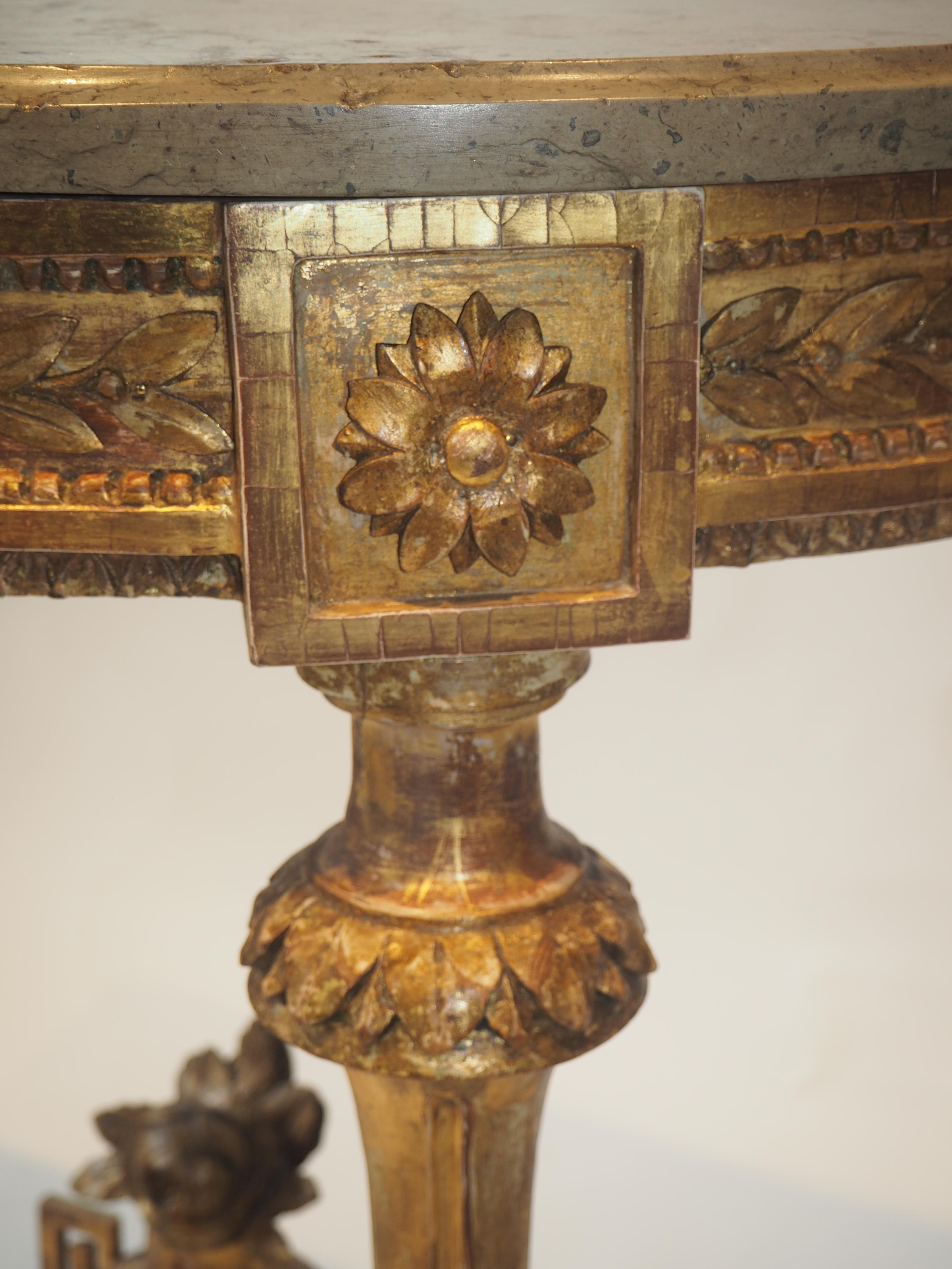 Gustavianskt konsolbord detalj
