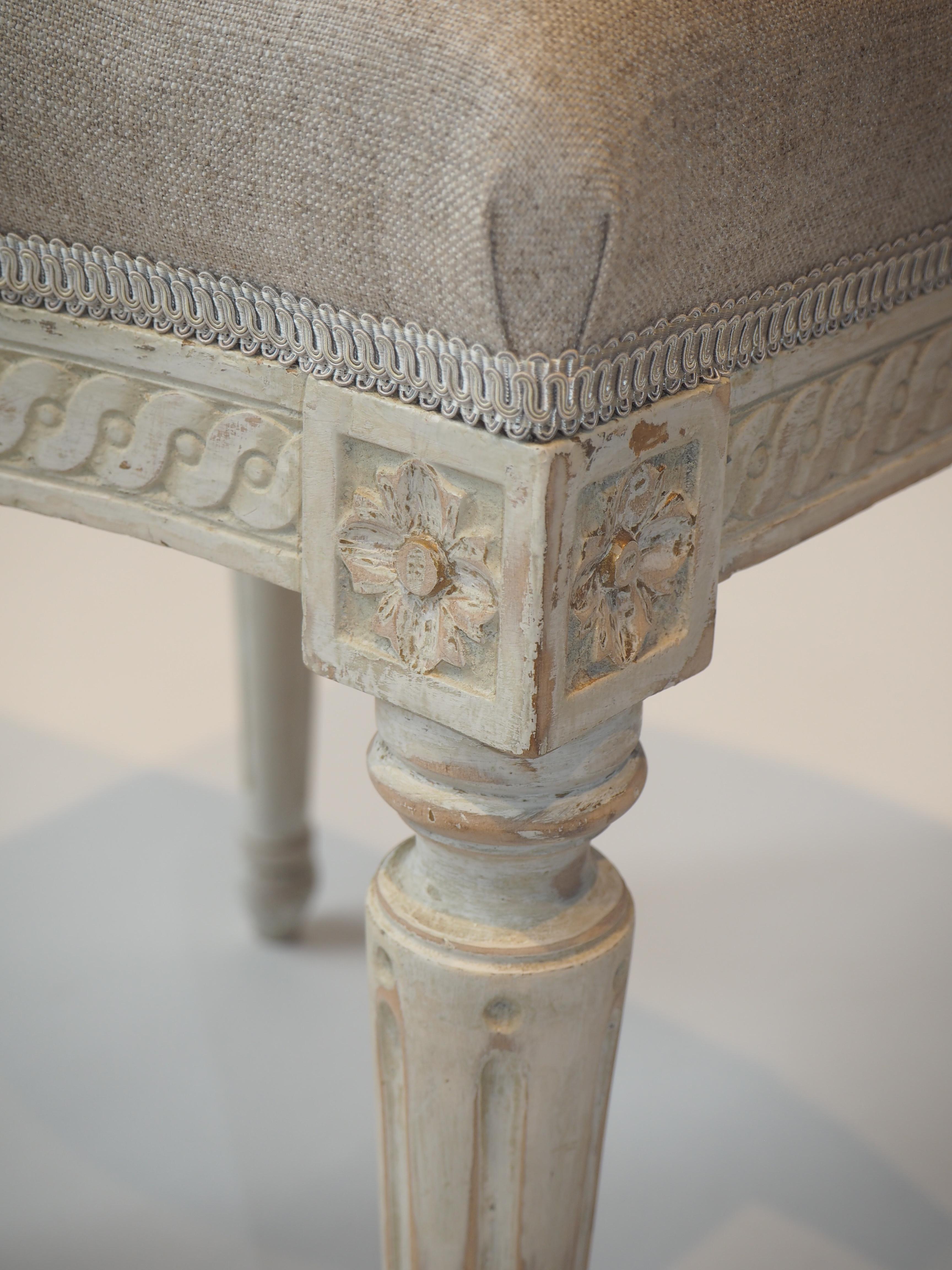 Gustavianska taburetter detalj